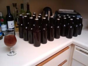 29 bottles of beer on the wall, 29 bottles of beer...